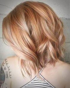 bob haircuts for women Strawberry Blonde Highlights, Blonde Hair With Highlights, Strawberry Blonde Bob, Love Hair, Great Hair, Medium Hair Styles, Short Hair Styles, Mom Hairstyles, Popular Hairstyles