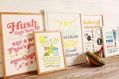 nursery decor wall prints