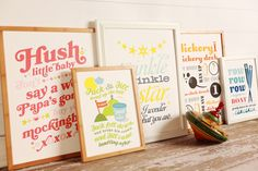 retro nursery decor wall prints