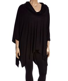 This Black Cowl Neck Tunic - Plus is perfect! #zulilyfinds