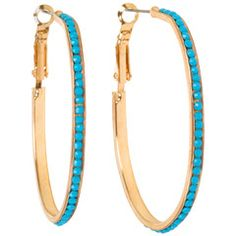 Turquoise Beaded Hoop Earrings: Shop our Mother's Day Last-Minute Gift Boutique! @Layla Grayce #laylagrayce #giftboutique #mothersday