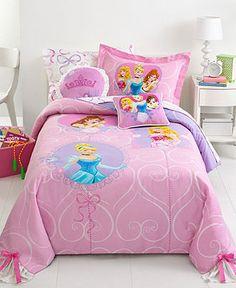Disney Bedding, Princess Timeless Elegance Comforter Sets - Bed in a Bag - Bed & Bath - Macy's Elegant Comforter Sets, Twin Comforter Sets, Bedding Sets, Disney Princess Bedroom, Princess Room, Toddler Bed Sheet Sets, Disney Princess Toddler, Disney Bedding, Purple Bedding