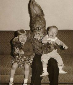 Briefed the daughters that easter bunny ....santa claus...tooth fairy....etc was total bull shit at a very early age....