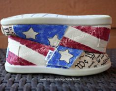 American flag shoes on Etsy, A variety of styles for girls!  Etsy-the global handmade and vintage marketplace.