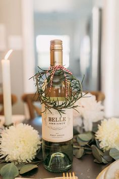 Creative Ways to Gift Wine with Belle Ambiance - Whiskey and Lace by Erika Altes Inexpensive gift idea - add creative wrapping to a bottle of wine! Such an easy and inexpensive hostess gift idea! Wine Bottle Gift, Wine Gifts, Wine Gift Baskets, Host Gifts, Christmas Gift Wrapping, Creative Gifts, Homemade Gifts, Craft Gifts, Small Gifts