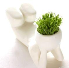 INFMETRY:: Ceramics Little Man style Grass Pot - he is so cute