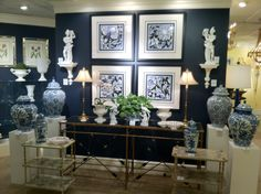 navy emerald and brass room - Google Search