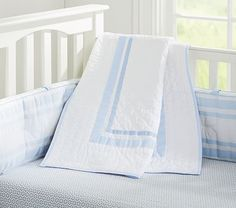There are multiple color options, so I would that matches the quilt. Harper Toddler Bedding #pbkids