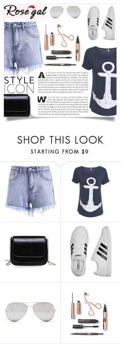 """""""Rosegal 60"""" by maidaa12 ❤ liked on Polyvore featuring adidas and Sunny Rebel"""
