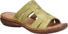 Born Beah Women\s Slide Sandal (Green)