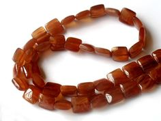 10mm Brown Rhodochrosite Smooth Square Beads by JewelryQuestDesign, $18.99