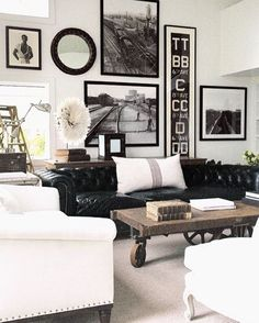 Ive had this living room pinned for so longnot sure of the source though if you guys do lemme know  Featuring the factory cart coffee table today on the blog. An oldie but a goodie. This will be our 3rd post about it! Who out there has one? #CopyCatChic