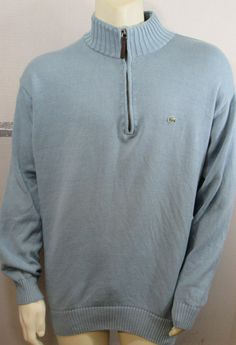 846250c15db5 Lacoste Zip Pull over Sweater. harleyforbargains · Mens Casual clothing