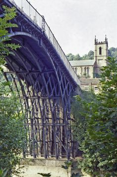 Iron Bridge in Shropshire, England,  the first iron bridge in the world was opened for traffic, on this day 1st January, 1781. Built by Abraham Darby III from a design by Thomas Farnolls Pritchard. This area is called the Birthplace of the Industrial Revolution.