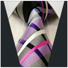 Gray / Pink / Purple Stripe - Neckties Only Collection
