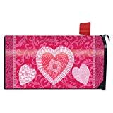 Briarwood Lane Patchwork Heart Valentine's Day Mailbox Cover Holiday Standard