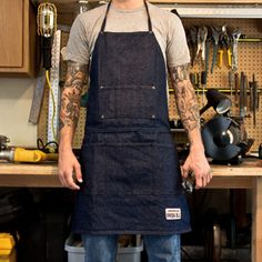 This tough apron was made by the tough hands inside the Oregon Prison System