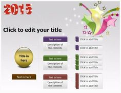 Use these pre-designed New Year 2015 PowerPoint Template and backgrounds create a beautiful presentation with attractive PPT Slides and the theme at the most affordable prices Christmas Powerpoint Template, Christmas Templates, Leaf Template, Ppt Template, Christmas Leaves, Presentation, Backgrounds, Ads, Backdrops