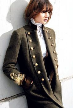 I've not tried this but I love the contrast between  soft and feminine and tough and militaristic.