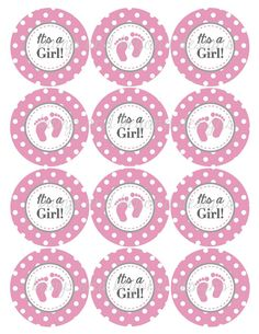 Baby Shower Cupcake Toppers Favor Tags Di Pandbeyonddesigns