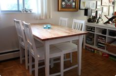 IKEA hackers is the site for hacks and mods on all things IKEA. Browse thousands of ideas to transform your IKEA furniture to fit your home and life. Ikea Table Hack, Ikea Dining Table, Dining Room, Refinished Table, Stained Table, Pine Table, Diy Furniture, Modern, Houses