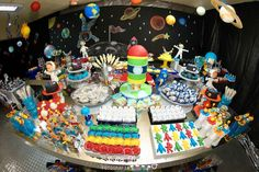 solar system party Birthday Party Ideas | Photo 1 of 104 | Catch My Party