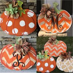 Pumpkin door hanger fall wreath fall door by BowsandBellsHangers