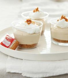 Biscoff Cheesecakes in cups @Biscoff Cookies