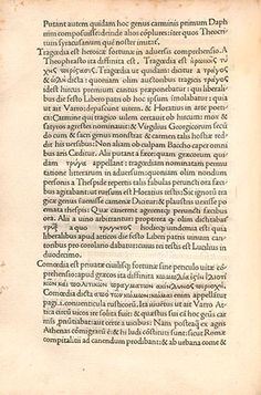 Ars Grammatica, which includes Jenson's Greek type, ca.1475. Bayerische StaatsBiblothek