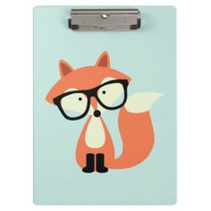 Cute Hipster Red Fox Clipboards