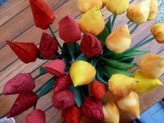 Nähanleitung für Tulpen aus Stoff » BERNINA Blog Blog, Peach, Table Decorations, Fruit, Sewing, Flowers, Crafts, Couture, Scrappy Quilts