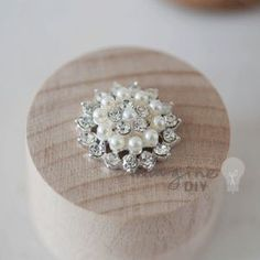 Pretty pearl and crystal embellishment for DIY wedding stationery and invitations. DIY wedding supplies. Paper crafts