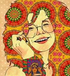 "Janis Joplin "" Oh Lord, won't you buy me a Mercedes-Benz? My friends all drive Porsches, I must make amends"" Mercedes Benz. Janis Joplin, Paz Hippie, Hippie Art, Hippie Style, Tachisme, Art Pop, Psychedelic Art, Woodstock, Rock And Roll"