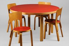 artek- Alvar Aalto Children's Chair and table Finland, 1930s