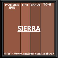 PANTONE SEASONAL COLOR SWATCH SIERRA