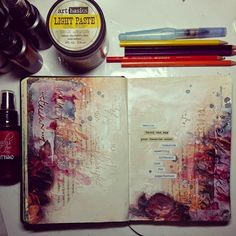 art journal spread - Marta Lapkowska