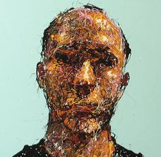 Craig Paul Nowak abstract drip portrait you me everybody light blue Drip Painting, Abstract Portrait, Jackson Pollock, Pictures To Paint, Light Blue, Paintings, Art, Paint, Painting Art