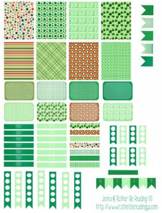 Free Printable Planner Stickers: St. Patrick's Day                                                                                                                                                     More