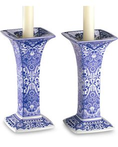 Use these candlesticks to decorate a fireplace mantle or hallway table! Get them here: http://www.bhg.com/shop/spode-judaica-sabbath-7-1-2-h-candlestick-set-of-2-p50ae3a38e4b0ccb622c5a43d.html?mz=a