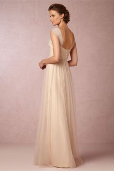 Juliette Dress from BHLDN - hemmed to the knee and has a shoulder option