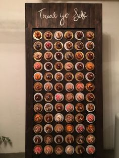 donut wall doughnuts wedding dessert