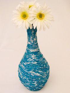 Shabby Chic Hand Painted Vase by SwirlyWorkz on Etsy, $38.00