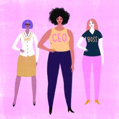 This is what a CEO looks like ✨ Flat Illustration, Powerful Women, Girl Boss, Girl Power, Illustrators, Lady, Inspiration, Instagram, Pathways