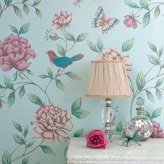 Adalina | Papel pintado floral | Patrones de papel pintado | Papeles de los 70
