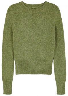 ISABEL MARANT ERWAN GREEN ALPACA BLEND JUMPER. #isabelmarant #cloth # Jumper, Men Sweater, Nick Miller, New Girl, Isabel Marant, Merino Wool, Pullover, Green, Sweaters