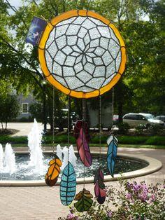 Stained Glass Dreamcatcher by TheLastUnicornStudio on Etsy, $200.00