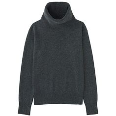 100% Cashmere Turtle Neck Sweater (€82) ❤ liked on Polyvore featuring tops, sweaters, clothing - ls tops, dark gray, loose fitting sweaters, cashmere sweater, turtle neck sweater, cashmere turtleneck and loose tops