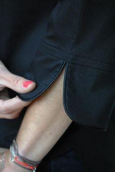 Poignet : passepoilé sans bouton: