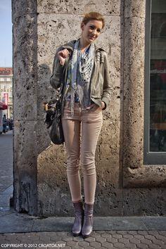 adria-stil:        Street Style in Zagreb, Croatia        via: croator