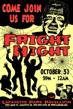 Halloween Fright Night Flyer Social Media Post Template Party